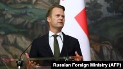 დანიის საგარეო საქმეთა მინისტრი იეპე კოფოდი. მოსკოვი, 2020 წ. 9 ოქტომბერი.