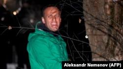 Олексій Навальний під час затримання в Москві, 17 січня 2021 р.