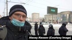 Алексей Алексеев на акции