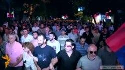 Ցույց մասնակիցները շրջեցին Երևանով և վերադարձան խորենացի փողոց