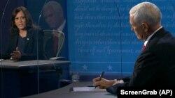 Мајк Пенс и Камала Харис на нивната телевизиска дебата