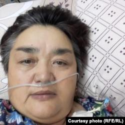 Гульнар Алдамжарова на пенсию вышла в этом году. У нее остались муж, двое детей и внуки. Фото Гульнары, сделанное ею в больнице