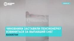 Пенсионерку в Казахстане заставили извиниться за снег