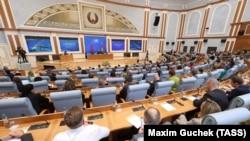Ընտրությունների առաջին տարվա առիթով Ալեքսանդր Լուկաշենկոյի հանդիպումը հանրության ներկայացուցիչների հետ, Մինսկ, 9-ը օգոստոսի, 2021թ.