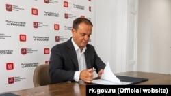Российский министр курортов и туризма Крыма Вадим Волченко