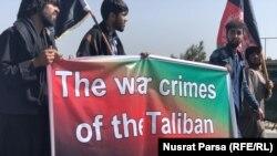 د کابل شمال کې د طالبانو پر ضد د لاریون کوونکو یو انځور