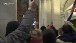 Incident ispred Skupštine Srbije na protestu '1 od 5 miliona'