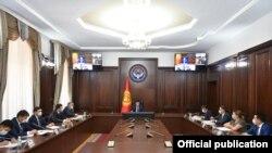 Улукбек Марипов баштаган Министрлер кабинетинин отуруму.