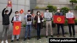 Түштүк Кореяда жашаган кыргызстандыктар өткөргөн акция. 10-май, 2021-жыл.