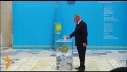 Назарбаев сайлауда дауыс берді