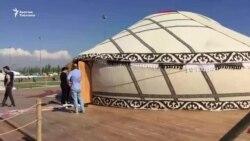Стамбул фестивалын кооздогон кыргыз үйү