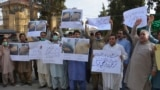 Pakistani journalists protested against the arrests of colleagues in Quetta in June.