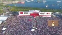 İstanbulda yüz minlərin toplaşdığı aksiyadan görüntülər
