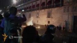 Мексикада намойишчилар полиция билан тўқнашди