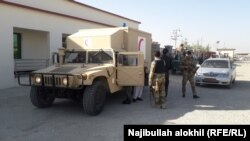 Afghan security forces were engaged in a gun battle with the attackers as they attempted to enter the base compound in Khost on October 27.
