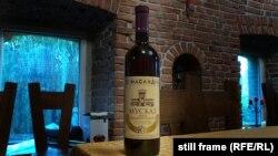 Пляшка вина «Мускат червоного каменя», Умань, червень 2020