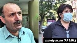 Правозащитники Вардан Арутюнян и Нина Карапетянц