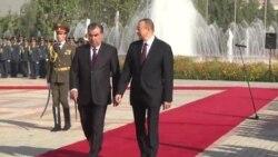 İlham Əliyev tacik həmkarı Emomalii Rahomon-la görüşüb