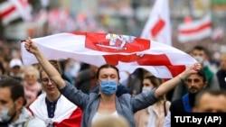 Марші на честь «народної інавгурації Тихановської» 27 вересня відбулися в багатьох містах Білорусі