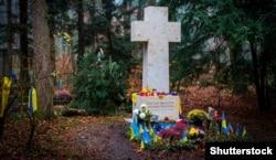Могила Степана Бандери. Мюнхен, Німеччина. 25 листопада 2020 року