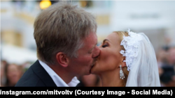 Peskov and Navka on their wedding day