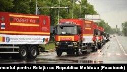Chișinău, 7 mai 2020: convoi cu ajutoare medicale din România.