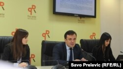 Sa predstavljanja izstraživanja Centra za monitoring o percepciji korupcije, Podgorica, 16. decembar 2013.