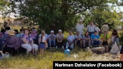"""""""Strelkovaya"""" narazlıq meydanınıñ sakinleri, 2018 s. avgust 2"""