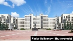 Belarus - The parliament building in Minsk.