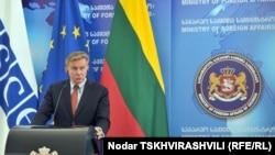 Ýewropada Howpsuzlyk we Hyzmatdaşlyk Guramasynyň häzirki ýolbaşçysy, Litwanyň daşary işler ministri Audronius Azubalis