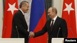 Ռուսաստանի նախագահ Վլադիմիր Պուտինի եւ Թուրքիայի վարչապետ Ռեջեփ Էրդողանի հանդիպումը Մոսկվայում, 18-ը հուլիսի, 2012թ.