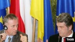 دیدار میرک توپولانک، نخست وزیر چک، با ویکتور یوشچنکو، رئیس جمهوری اوکراین (عکس: ITAR-TASS)