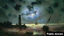 Берег моря ночью.1837 год. Иван Айвазовский