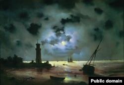 Иван Айвазовский. Берег моря ночью. 1837 год