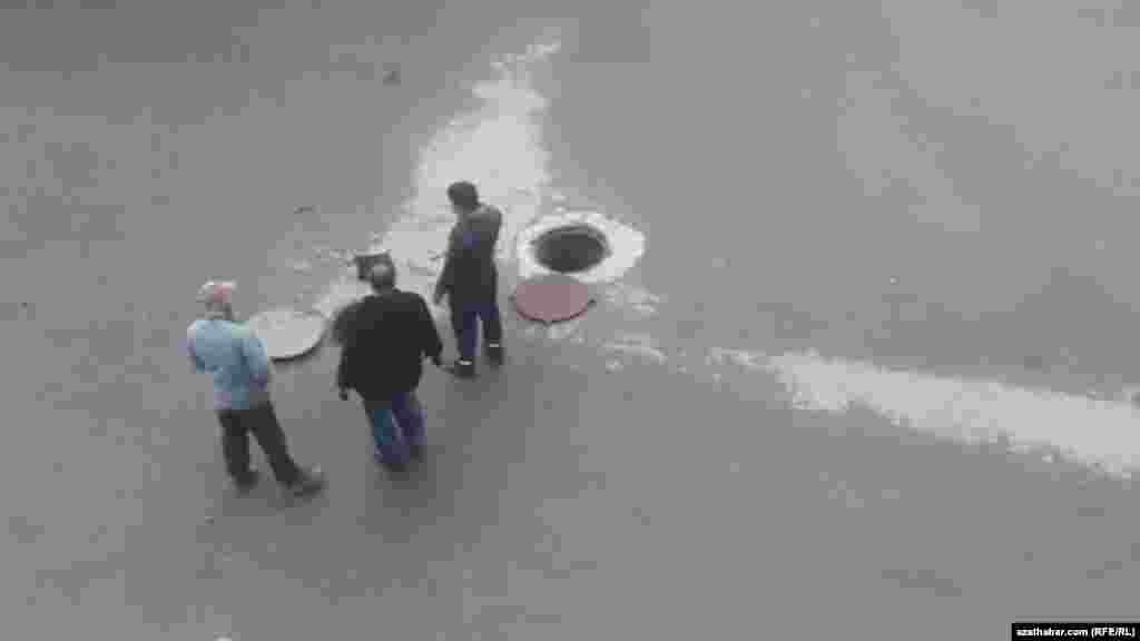 Ремонт канализации в Ашхабаде. Декабрь, 2020