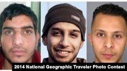 Абдельхамид Абауд (в центре), подозреваемый в организации терактов в Париже 13 ноября 2015 года.