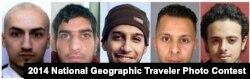 Подозреваемые а организации терактов в Париже. В центре - Абдельхамид Абауд