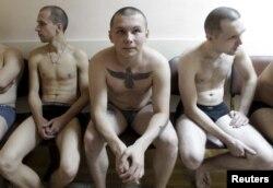 Прызыўнікі ў расейскую армію ў Стаўропалі.