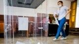 Второй день российских выборов в Госдуму России и местные муниципалитеты. Бахчисарай, 18 сентября 2021 года