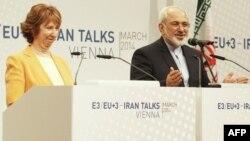 Shefja e politikës së jashtme të BE-së, Catherine Ashton, dhe ministri i Jashtëm iranian, Mohammad Javad Zarif.