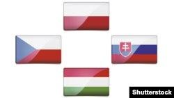 Прапори країн «Вишеградської четвірки»