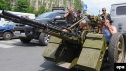 Протиповітряна установка на озброєнні у проросійських бойовиків з так названого батальйону «Восток», 29 травня 2014 року