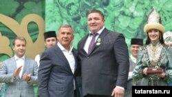 Ильяс Галимов Татарстан президенты Рөстәм Миңнеханов белән