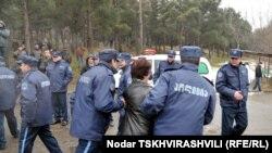 Процесс выселения беженцев из Тбилиси. Январь, 2011 год.