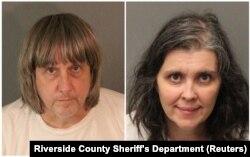 Дэвид и Луиза Тарпины, фото департамента шерифа округа Риверсайд, Калифорния, 15 января 2018