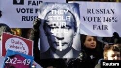 Демонстрации солидарности с российскими гражданскими активистами стали традицией в Великобритании.