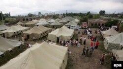 Лагерь беженцев в североосетинском городе Алагир (архивное фото)