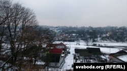 Від зь месца Брамы на рэчышча Дубравенкі і колішні Задубровенскі пасад
