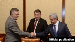 Armenia - Opposition Heritage Party members meet with President Serzh Sarkissian, Yerevan, Mar 11, 2015