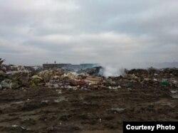Горящая свалка, Ленинградская область, деревня Старая, Колтыши, мусор